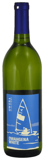 Owahgena White - wine bottle